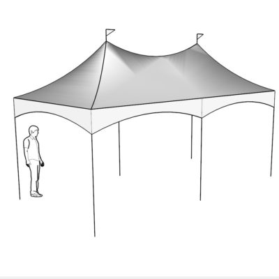 10x20 Quick Peak Tent